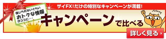 ザイFX!だけの特別なキャンペーンが満載