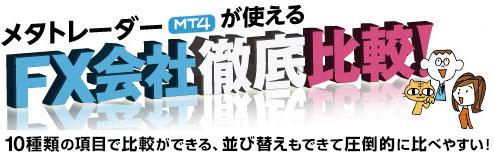 MT4が使えるFX会社徹底比較!